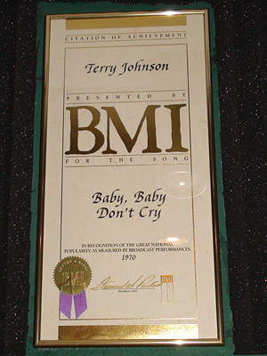 "At Motown Records, as a writing & producing partner with Smokey Robinson, his music was recorded by  The  Miracles, winning him a BMI Award for ""Baby Baby Don't Cry"" and a top 10 hit ""Here I Go Again""."