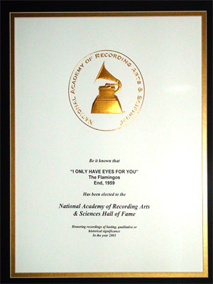"In 2003, Johnson was honored by NARAS as ""I Only Have Eyes For You"" was inducted into the Grammy Award Hall of Fame."