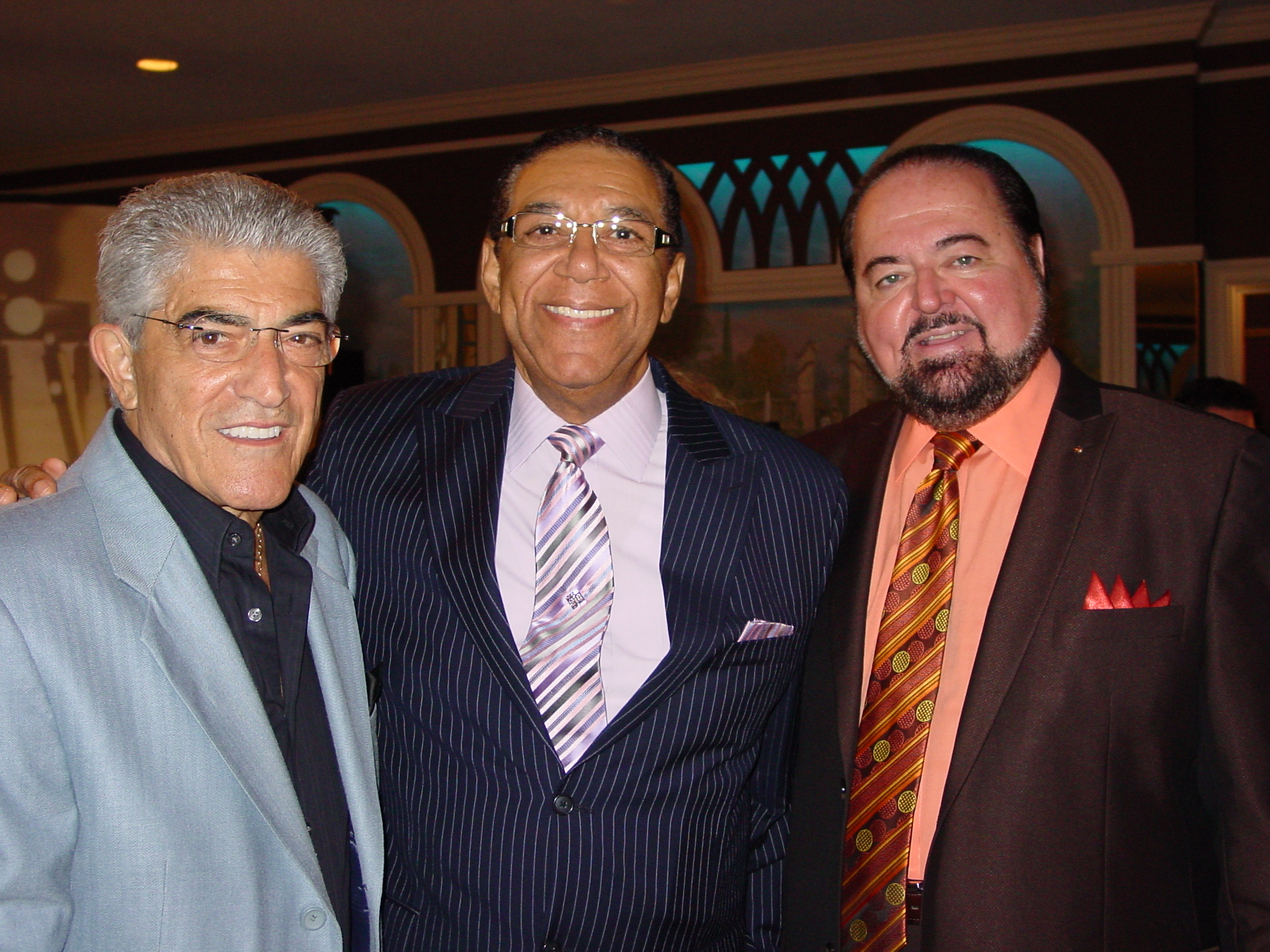 Actor Frank Vincent and MC Jay Michaels