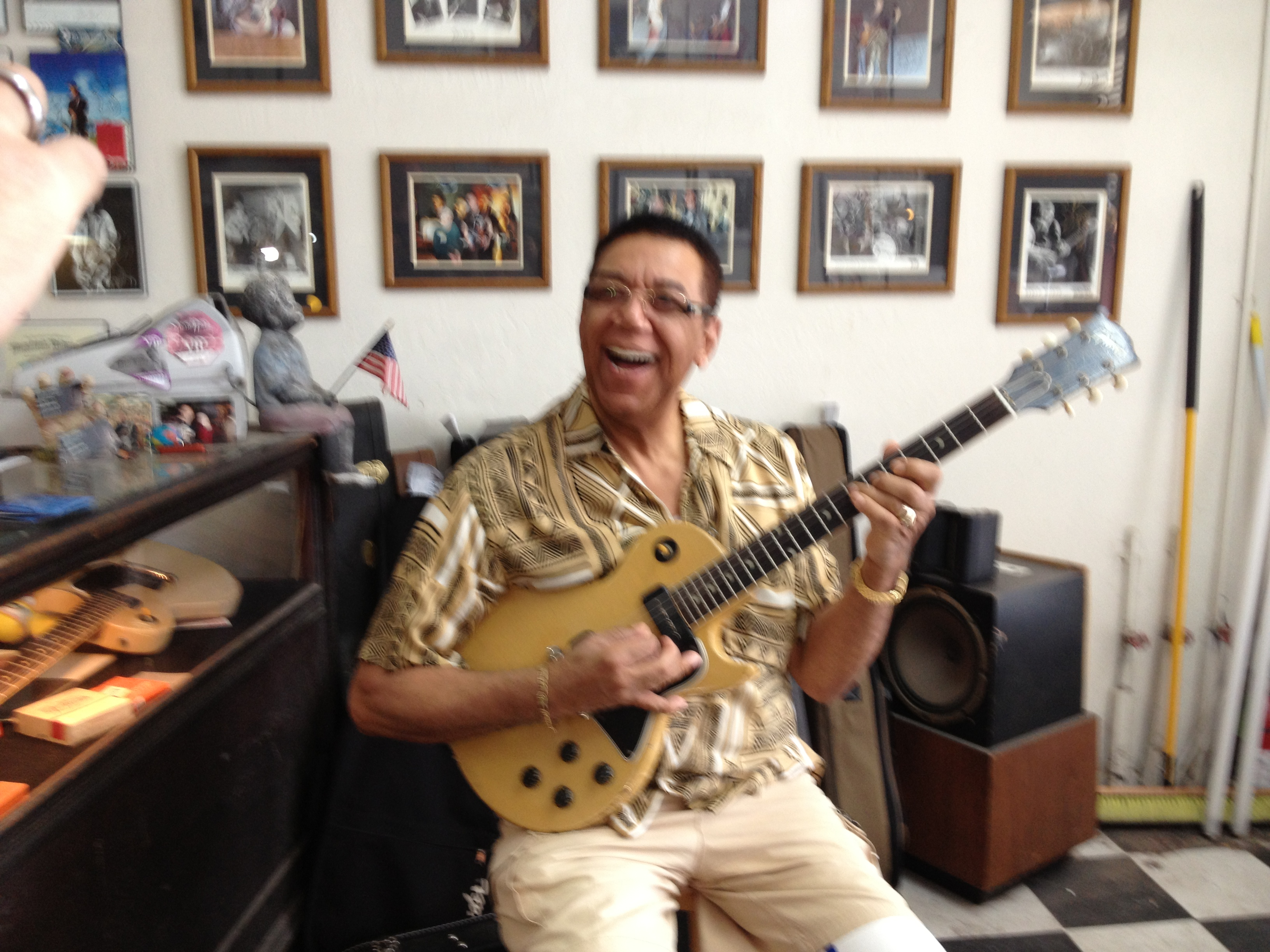 Playing a 1956 Les Paul.  Boy does this bring back memories !