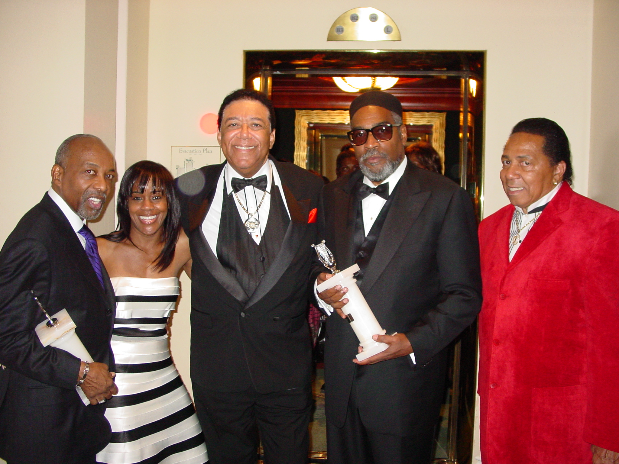 Leon Huff, Friend, Terry, Kenny Gamble, Bunny Seigler (Gamble & Huff, writing team and former owners of Philly International Records).