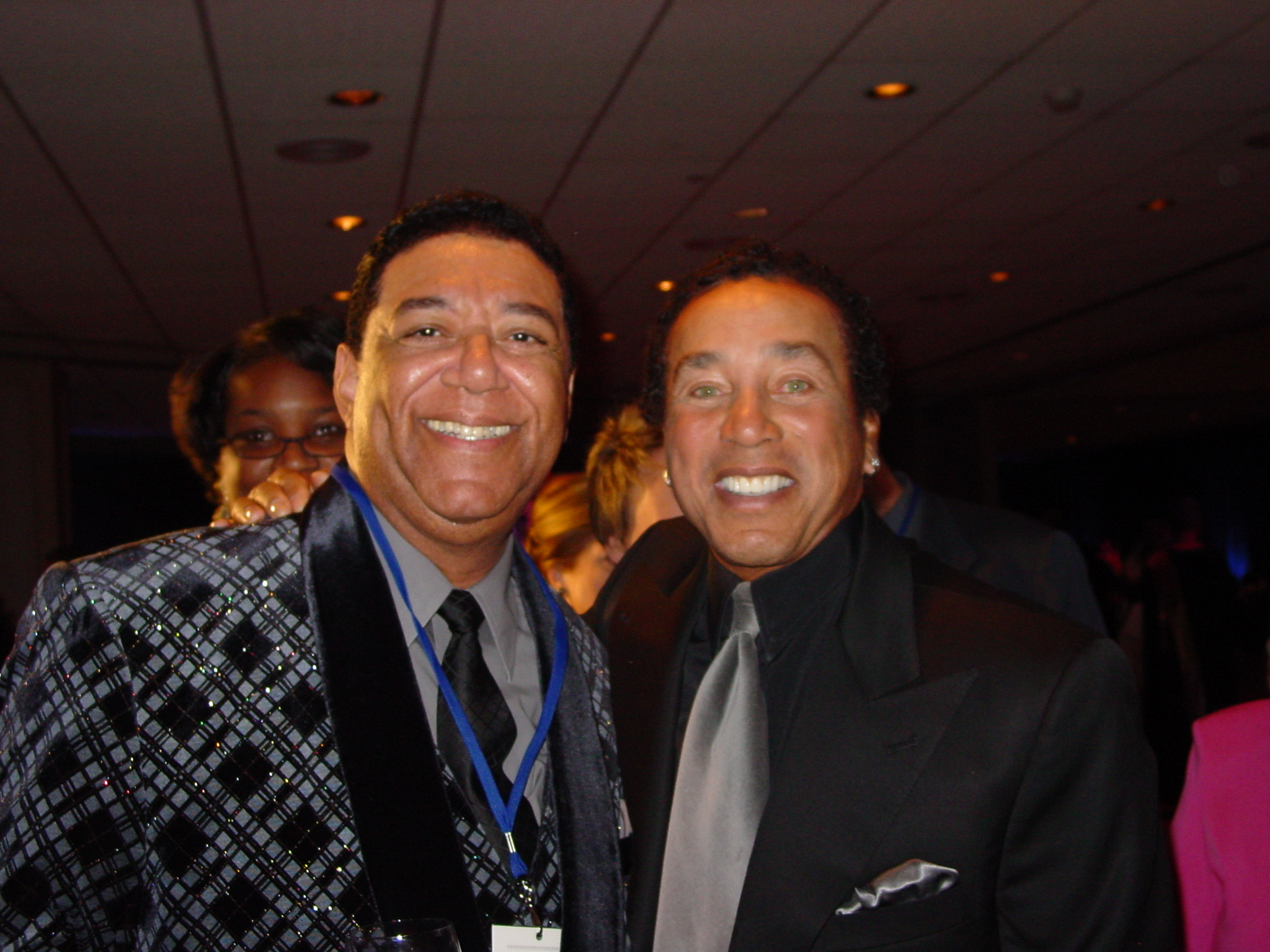Writing partners Buzzy and Smokey at Motown Gala Night