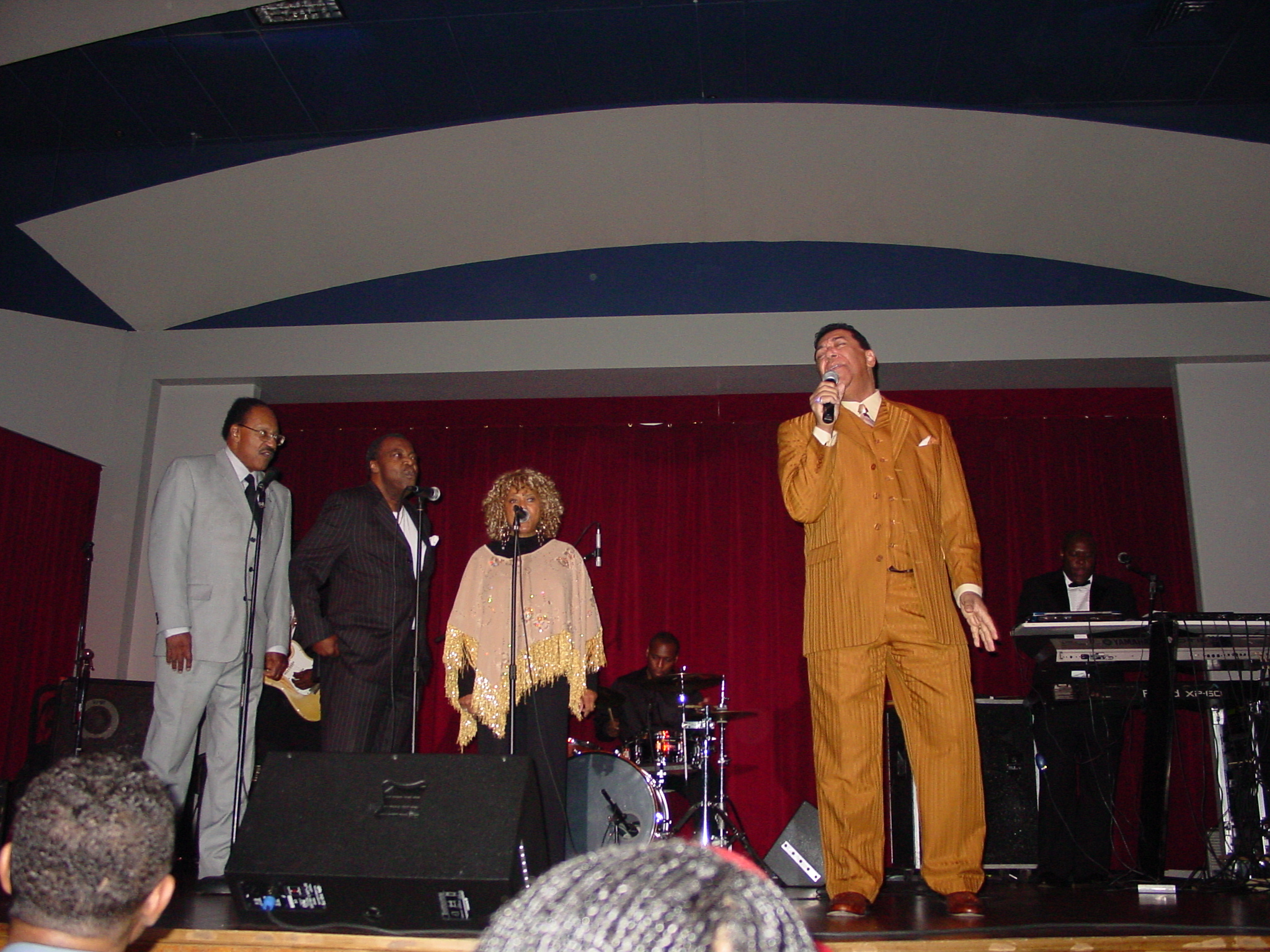 "Singing ""Ooo Baby Baby"" with The Miracles (Bobby Rogers, Pete Moore, Claudette Robinson).  What a blast !"