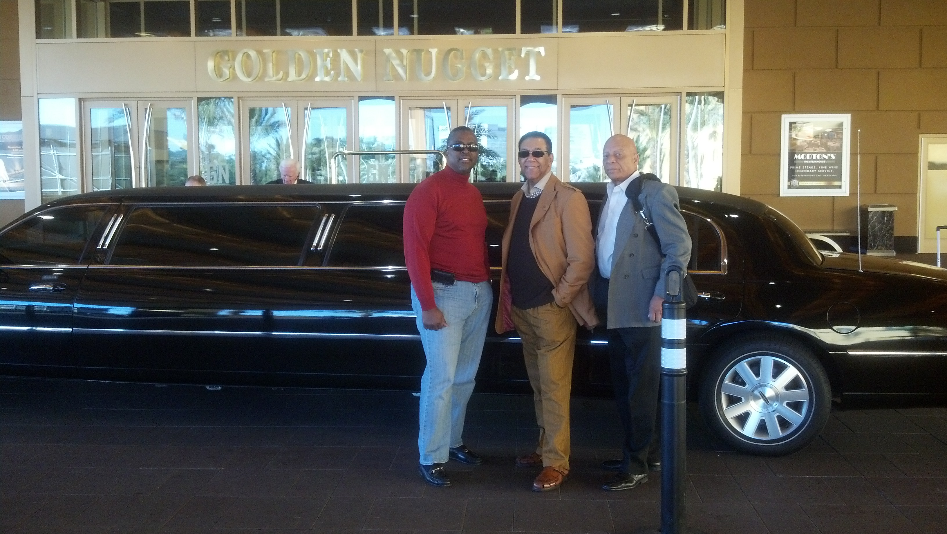 The Flamingos headed back to the airport after a sold out show at the Golden Nugget in Biloxi, S